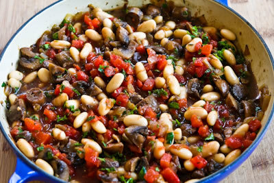 Mushroom, White Bean and Tomato Stew with Parmesan – Kalyn's ...